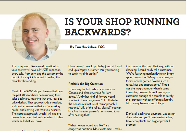 Is Your Shop Running Backwards?